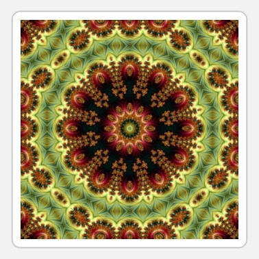 Dekoration ABSTRAKT FRACTAL ROYALLY MANDALA 3 - Sticker