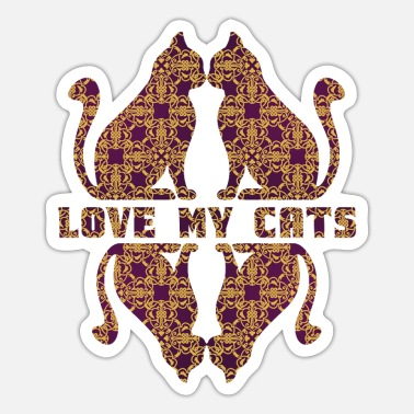 Blitz cat ornament kunst mandala frieden katze fun art - Sticker