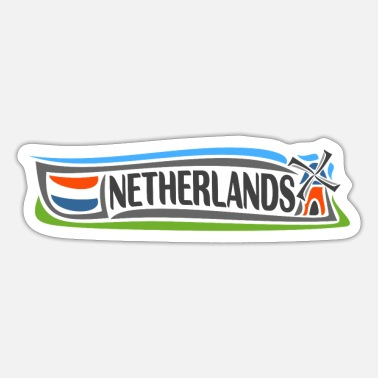 Holland Holland Rejse Souvenir Vartegn Hollandsk Flag - Sticker