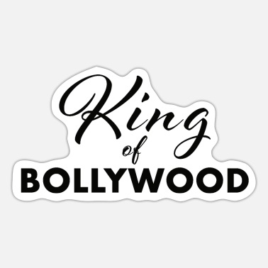King Salman King of Bollywood black - Sticker