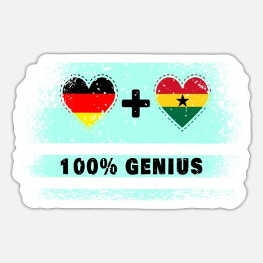 Kumasi Germany and Ghana 100% brilliant / gift - Sticker