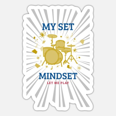 Drum Set drums my set mindset - Sticker