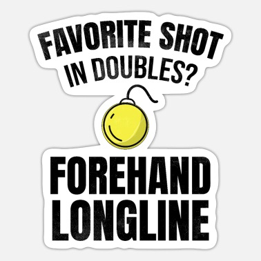 Longline Tennis doubles | Double player forehand longline - Sticker