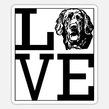 Love Hovawart dog dog owner dog saying Dog - Sticker