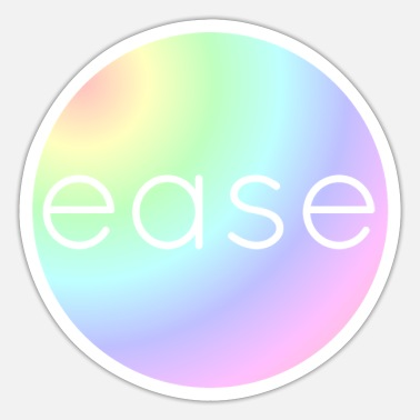 Ease Ease in Rainbow Colors - Sticker