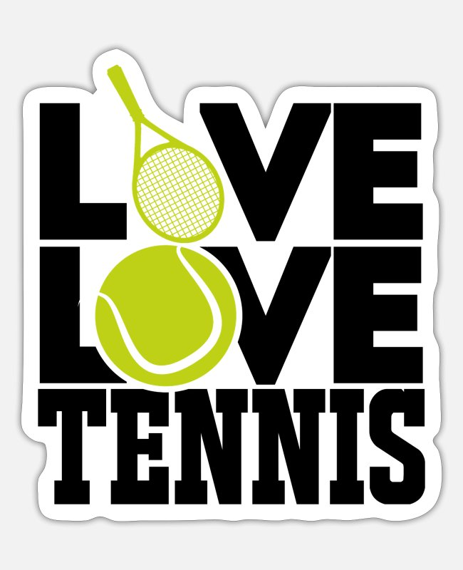 Association Stickers - Tennis tennis player tennis racket tennis - Sticker white mat