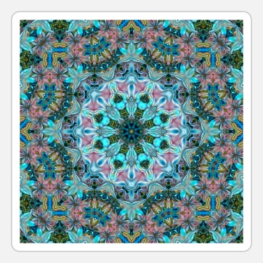 Trendy KALEIDOSCOPE ABSTRACT LILIES 2 FLOWERS 2 - Sticker
