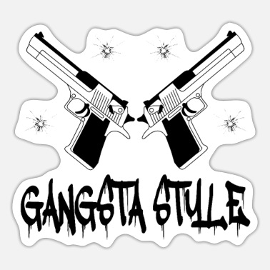 Gangsta Rap Gangsta Style Gangsta Rap Weapons - Sticker