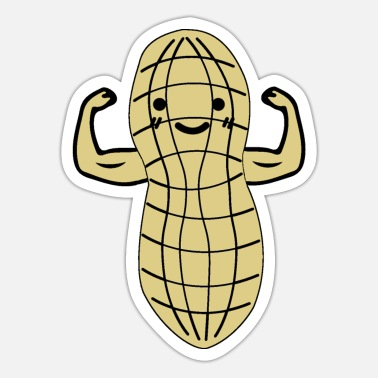 Strong Eating Sandwich Peanut Butter - Sticker