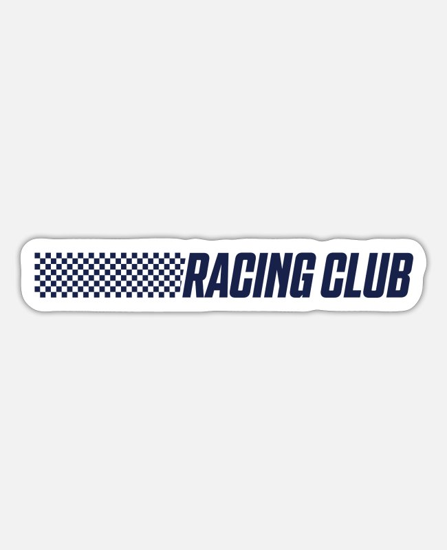 Racer Stickers - Racing club association team - Sticker white mat