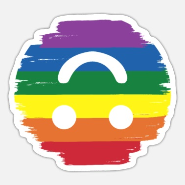 Homo Emoticon regenboog igbt gay transgender cadeau - Sticker