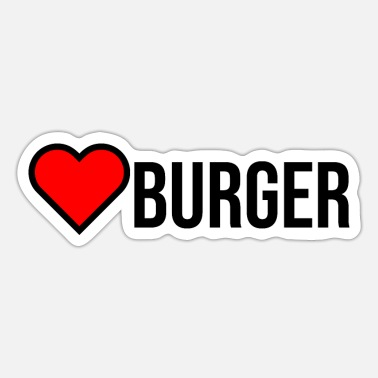 Couple love burger fast food - Autocollant