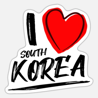 I love South Korea - Sticker