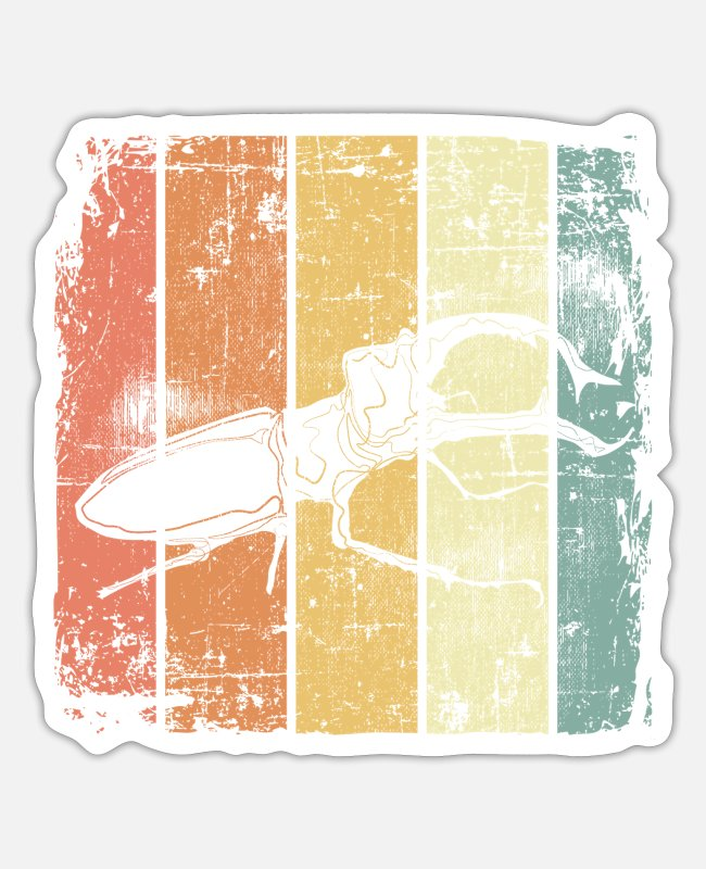 Nature Stickers - Stag beetle vintage - Sticker white mat