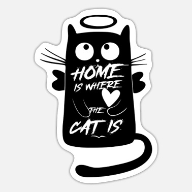 a cat's friend - Sticker