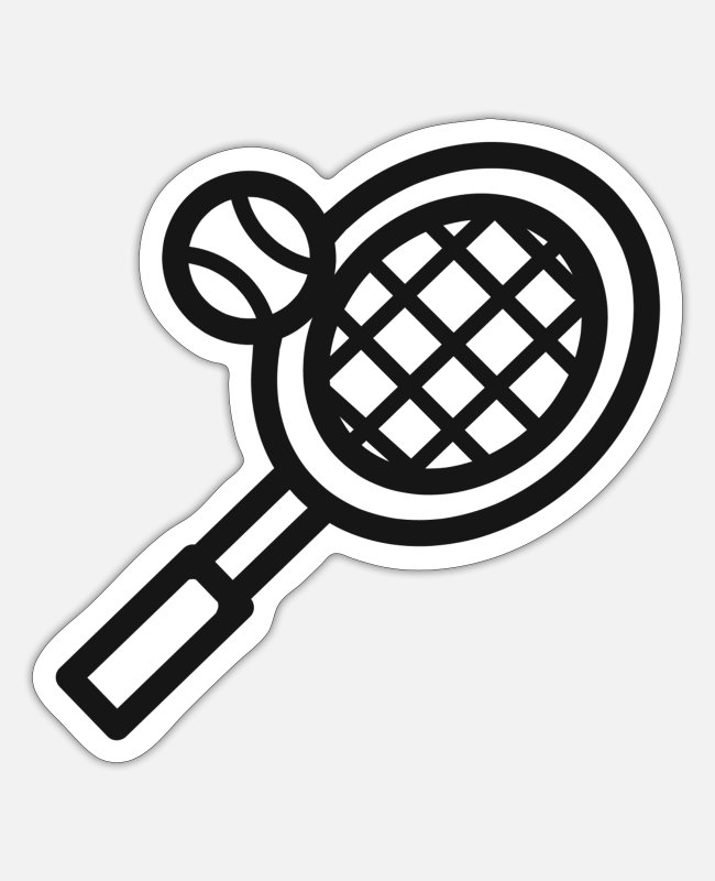 Tennis Club Stickers - Tennis tennis racket tennis tennis lovers - Sticker white mat