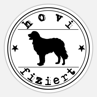 Hovified Hovawart dog saying infected dog - Sticker