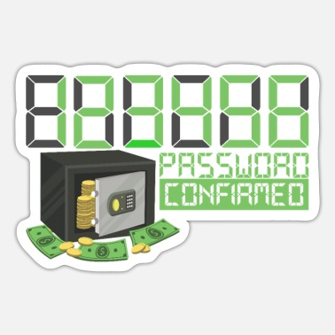 Confirmation 123456 Password confirmed - Sticker