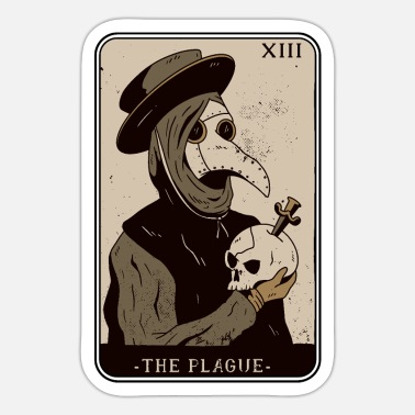 Tarot Card Tarot card to place the Plague Tarot cards - Sticker