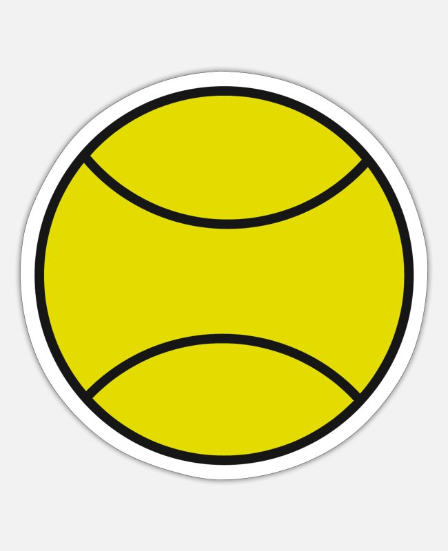 Tennis Club Stickers - Tennis tennis lovers tennis racket tennis - Sticker white mat