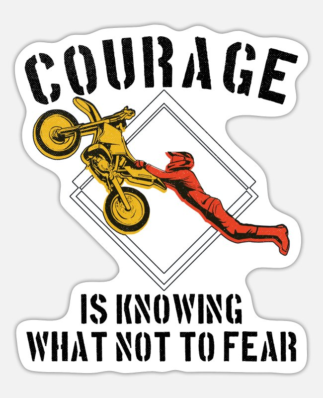 What Not To Stickers - Courage fear extreme sport courage is knowing what not - Sticker white mat