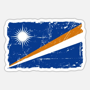 Marshall Flag of Marshall Islands - Marshall Islands flag - Sticker