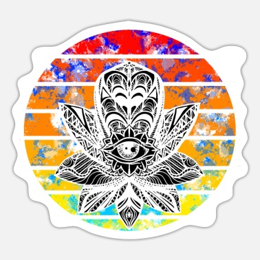 Mandala in de zonsondergang - Sticker