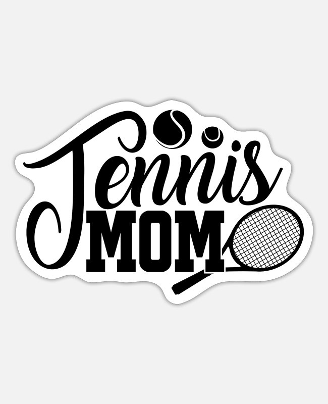 Blow Up Stickers - Tennis tennis player tennis racket tennis - Sticker white mat