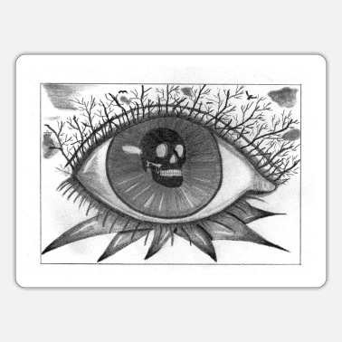 Retina Spooky Skull Eye - Sticker