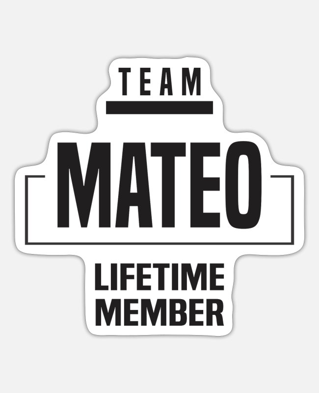 Mateo Stickers - Mateo - Sticker white mat