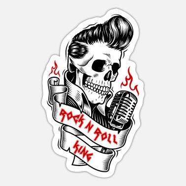 Duivel Rock and Roll King Elvis Forever Hard Rock & Roll - Sticker