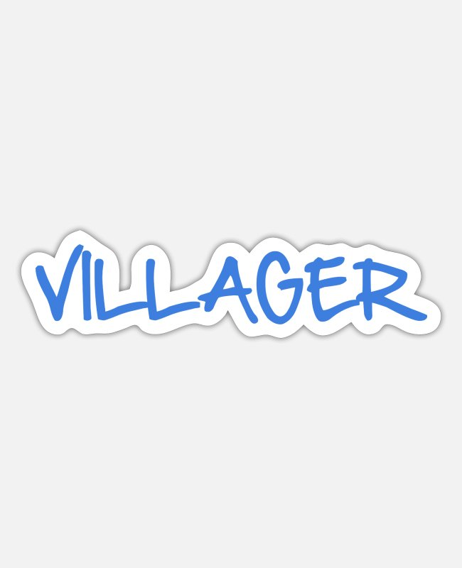 Muh Stickers - VILLAGER - Sticker white mat