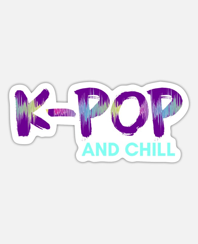 Shawols Stickers - K-Pop and chill Gayo Korea Korean music - Sticker white mat