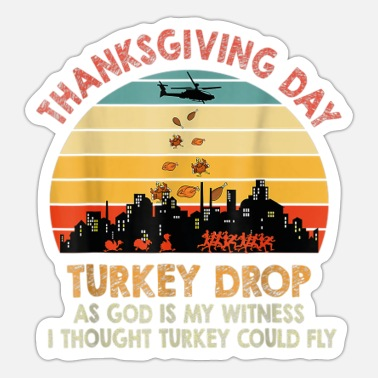 Indianere Tyrkiet Drop Thanksgiving Gift Turkey Running Funny - Sticker