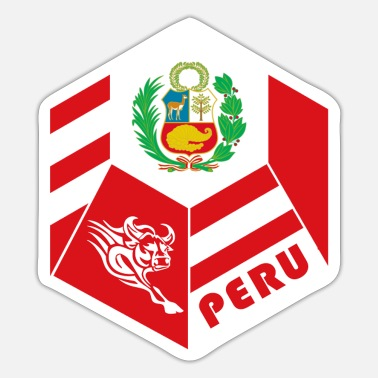 Chiclayo Peru bull flag design / gift idea - Sticker