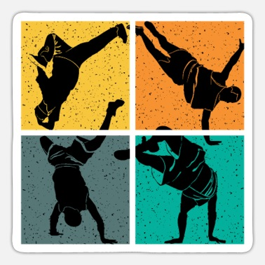 Hip Hop Breakdance Dance Vintage - Sticker