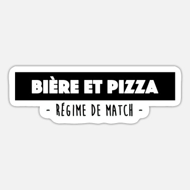 Beer and Pizza Diet Match - Sticker
