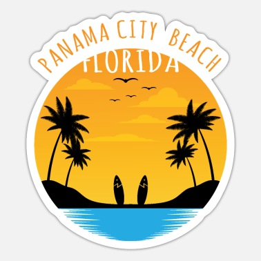 Ulykkelig Surf Lover - Panama City Beach Florida T-shirt - Sticker