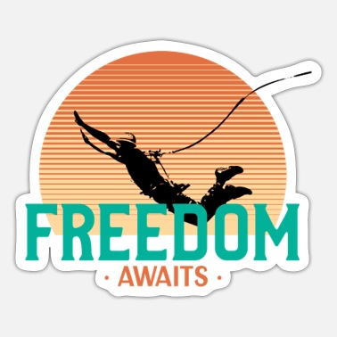 Bungee Jumping Freedom awaits - jump - Sticker