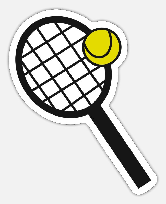 Tennis Club Stickers - Tennis tennis lovers tennis tennis racket - Sticker white mat