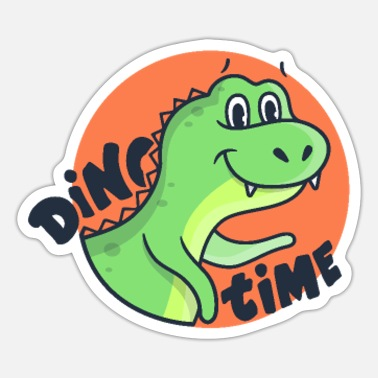 Cartoon Dinosaur Funny cartoon dinosaur dino - Sticker