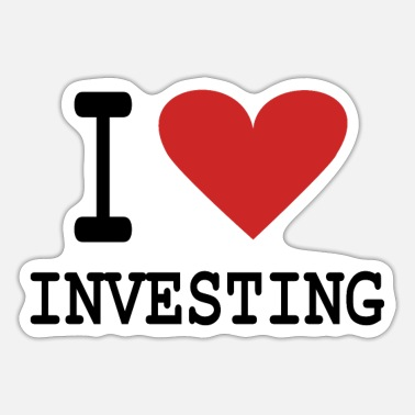 Wall I Heart Investing - Sticker