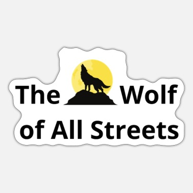 Wall THE WOLF OF ALL STREETS - Sticker