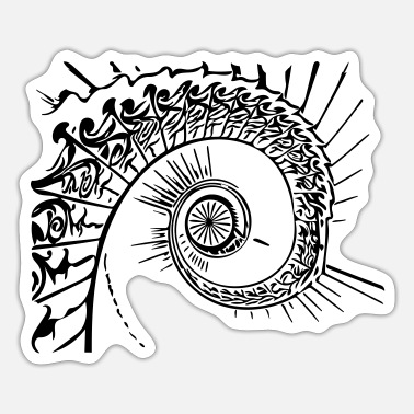 Unusual Unusual vector spiral - Sticker