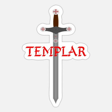 Templar Sword of the Templar - Sticker