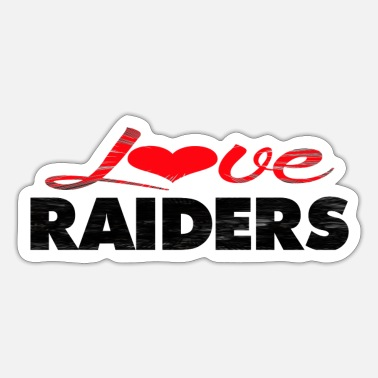 Raider Love RAIDERS - Sticker