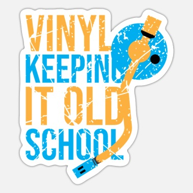 Jockey Vinyl old school draaitafel vinylplaten DJ - Sticker