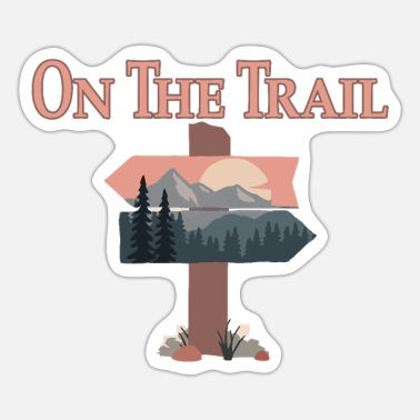 Trail On the trail - Sticker
