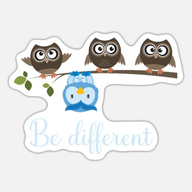 Eule Be Different Eulen Owls - Sticker