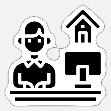 Home Office Man Home office - Sticker